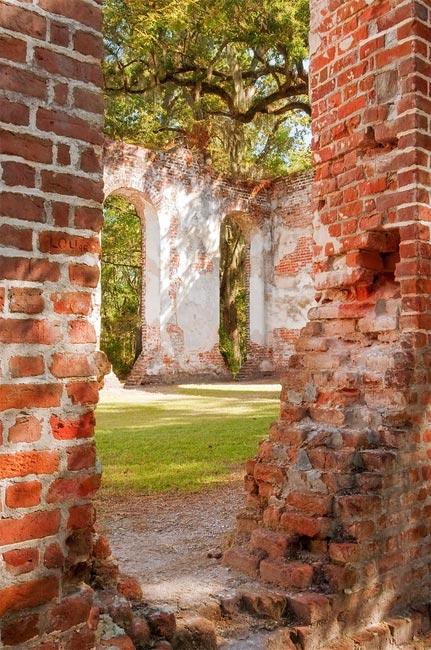 Old Sheldon Church Ruins Yemassee Sc Photos Map History