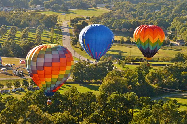 Hot Air Balloons over Anderson