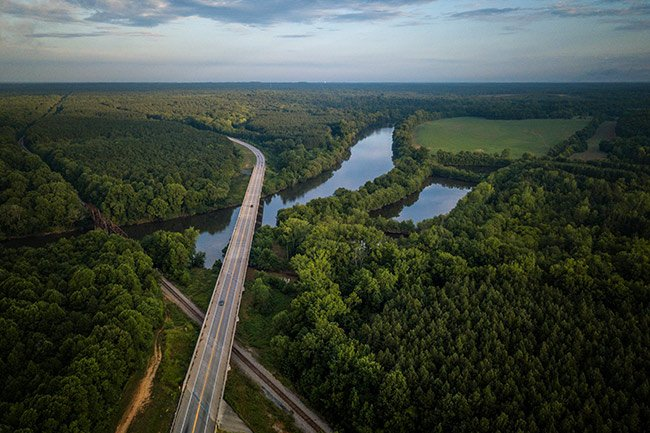 Ashe's Ferry Aerial