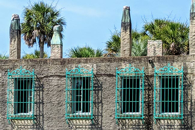 Atalaya Windows with Iron Grates