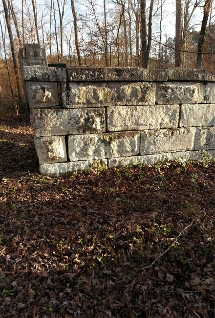 Badwell Cemetery Wall