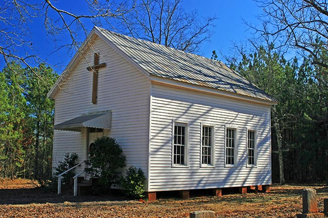 Barrs Methodist Chapel in Edgefield SC