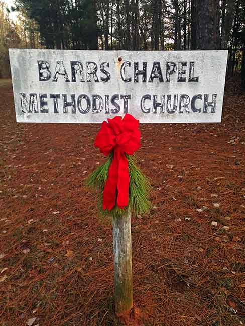 Barrs Methodist Church Historical Marker