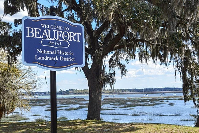 Beaufort Welcome Sign