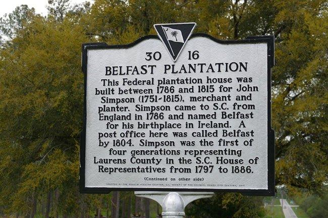 Belfast Plantation Marker