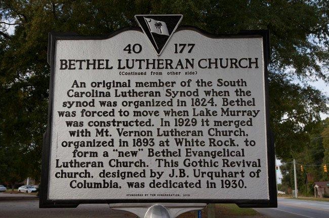 Bethel Lutheran Marker Back