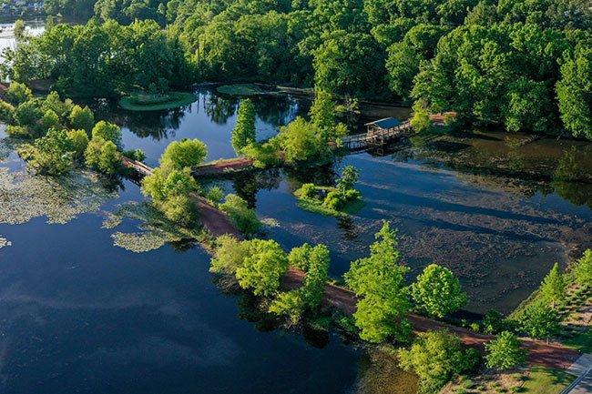 Brick Pond, North Augusta, Aerial