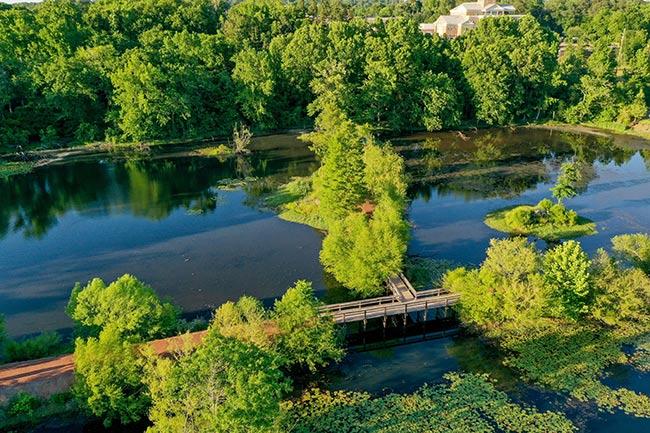 Brick Pond Park, Aerial