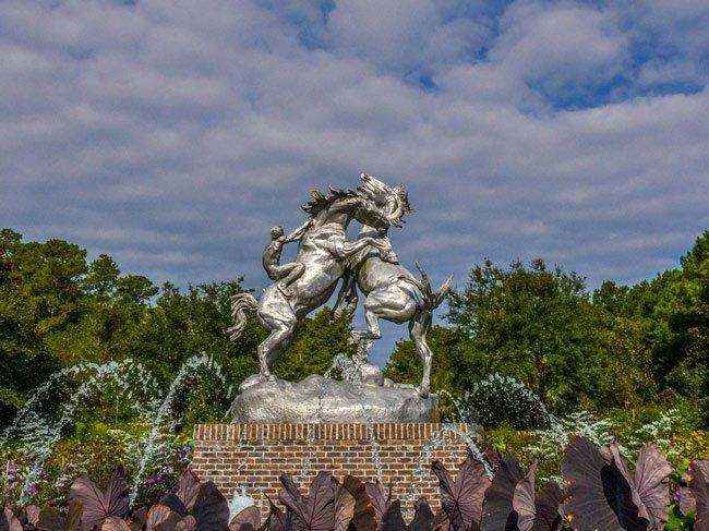 Brookgreen Fighting Stallions