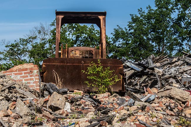 Bulldozer at Chiquola Mill
