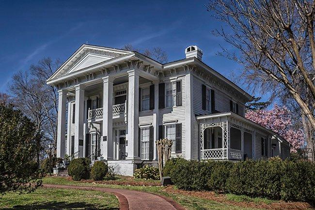 Burt Stark Mansion in Spring