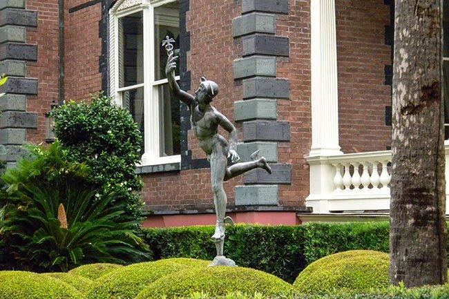 Calhoun Mansion Garden Statue