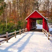 Campbells Covered Bridge Snow