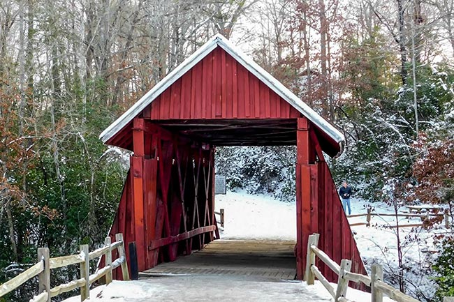 Campbell's Covered Bridge in Snow