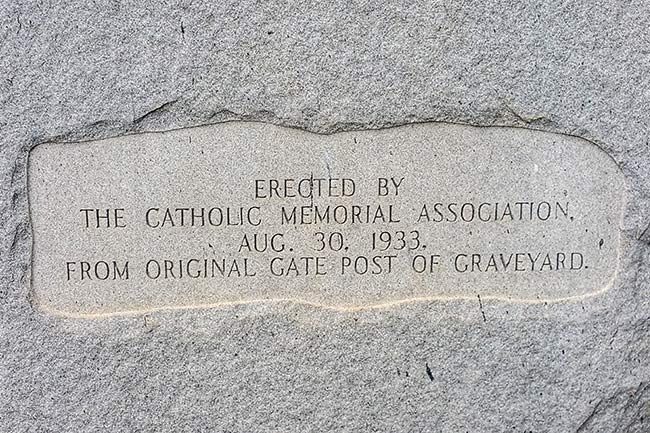 Catholic Presbyterian Memorial Sign