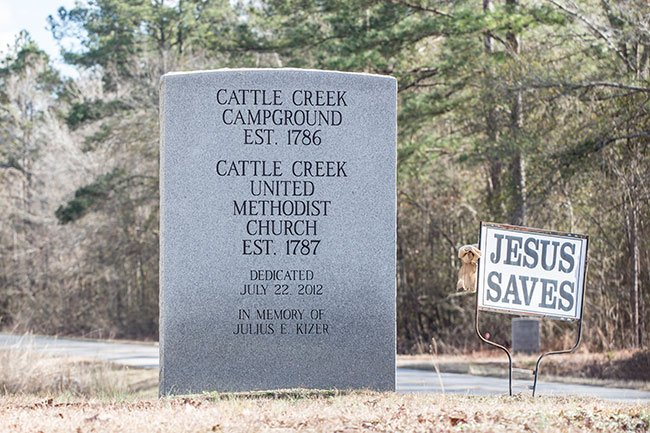Cattle Creek Campground Sign