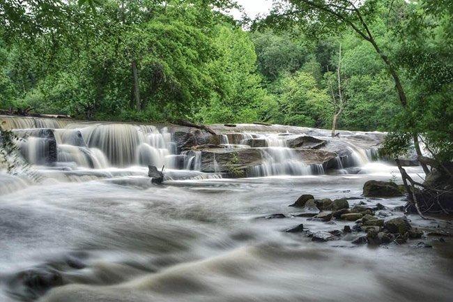 Cedar Falls Waterfall, Blurred Water