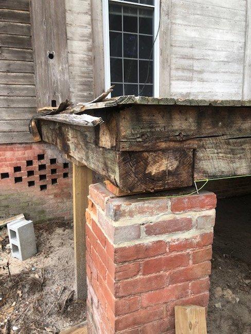 Charles Hammond House Restoration Porch