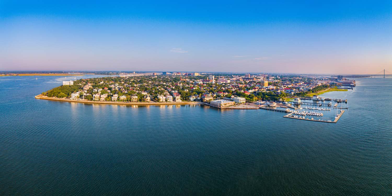 Charleston Harbor Panorama