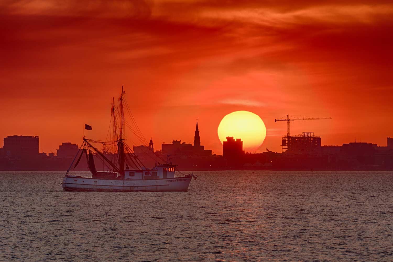Charleston Harbor Sunset