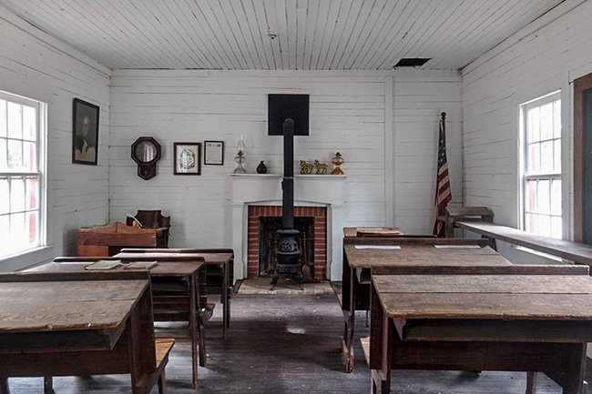 China Springs Schoolhouse Interior