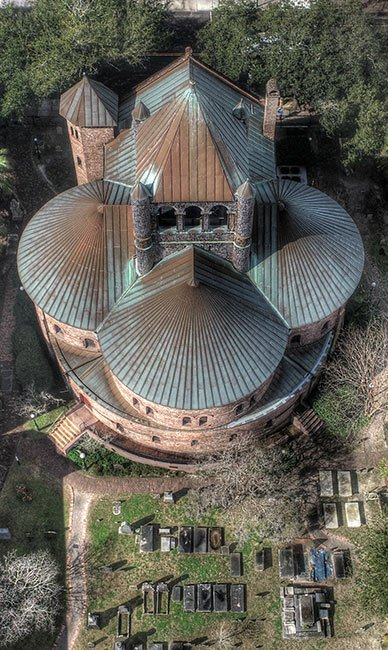 Circular Congregational Church Aerial