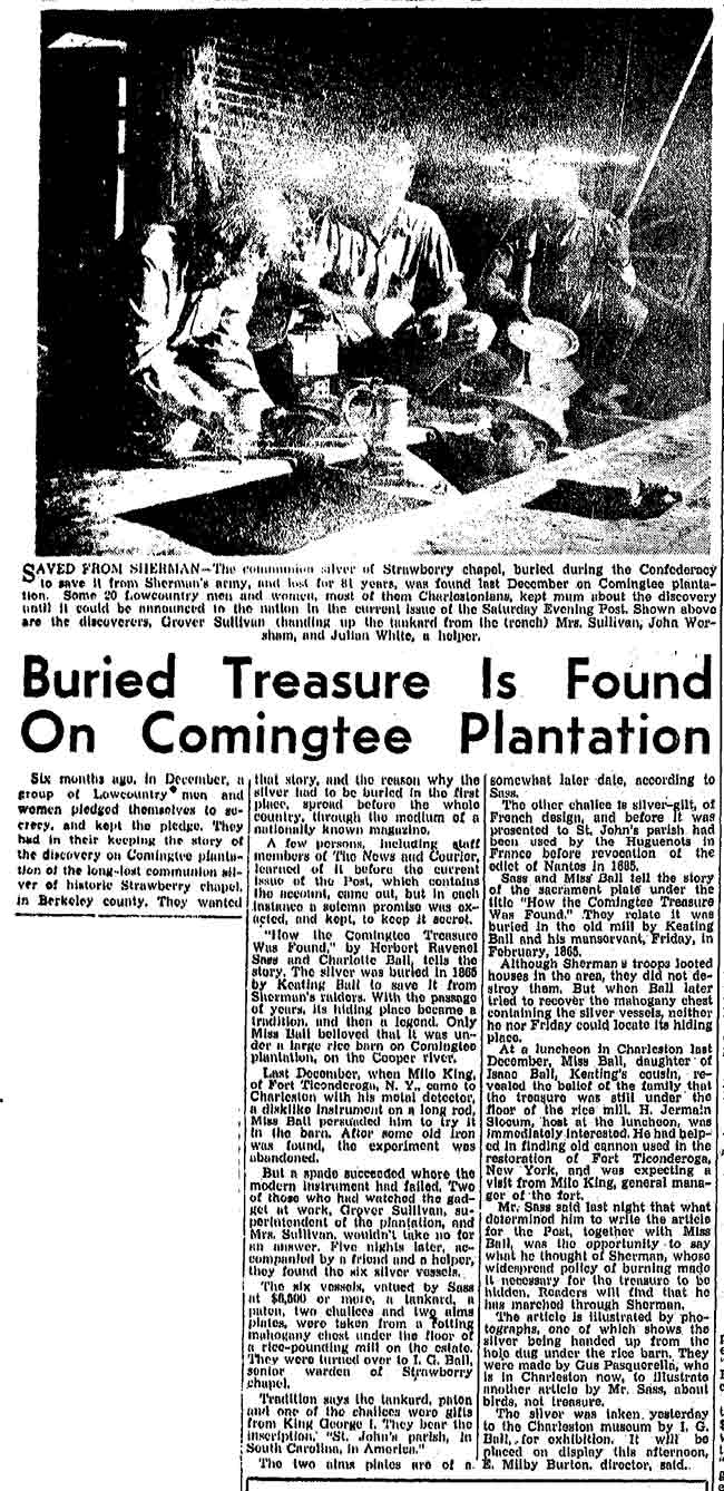 Comingtee Plantation Buried Treasure Found
