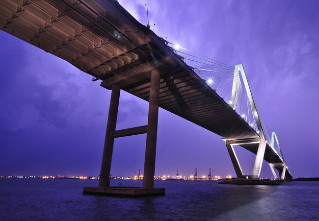 Cooper River Bridge at Dusk