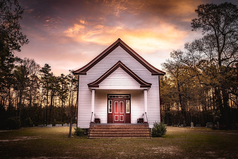 Cummings Chapel at Sunset