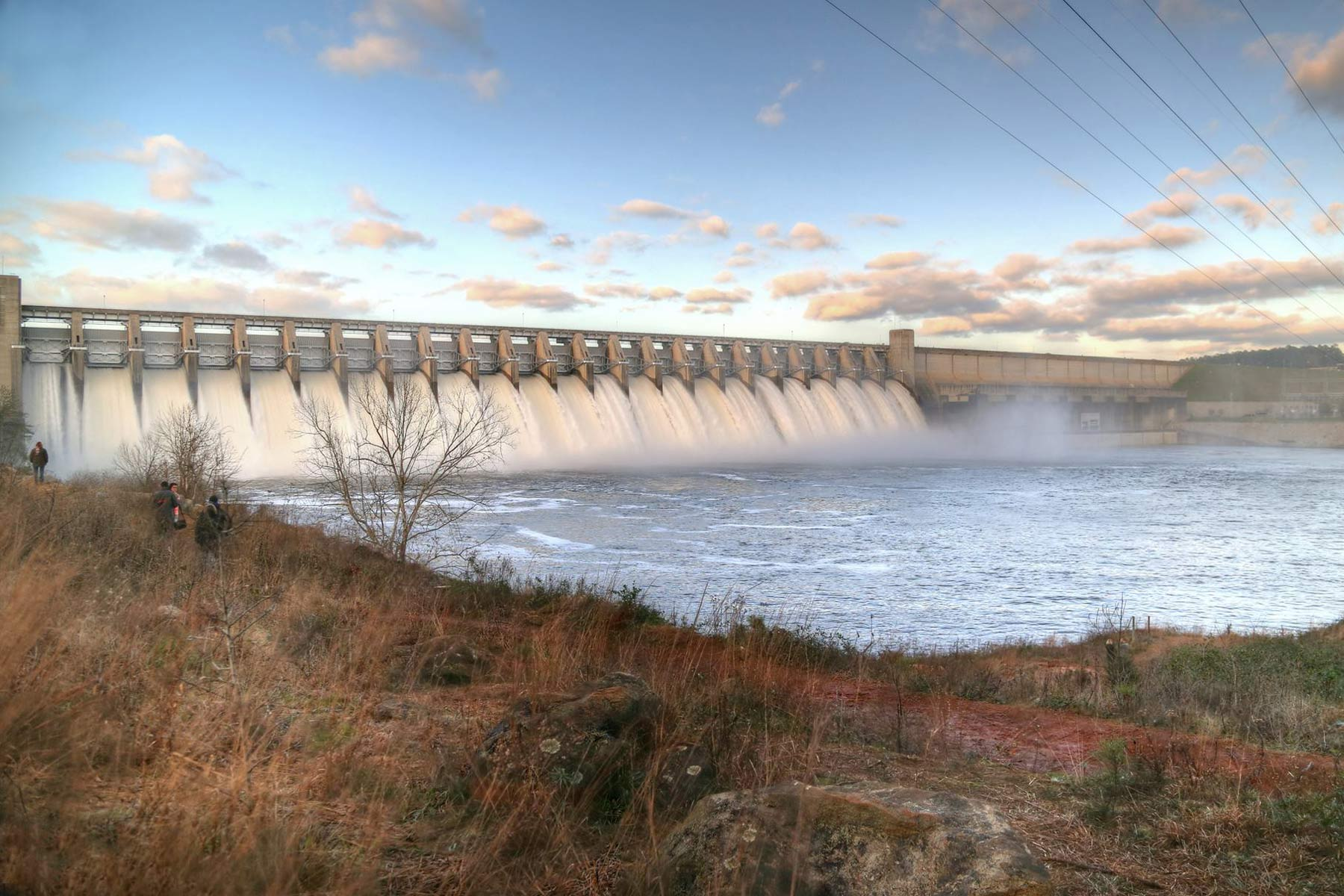 Dam at Strom Thurmond Lake
