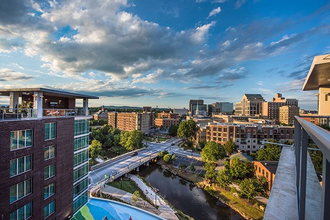 Downtown Greenville, Overlooking Reedy River