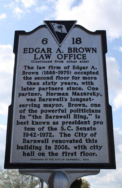 Edgar Brown Office Marker Back