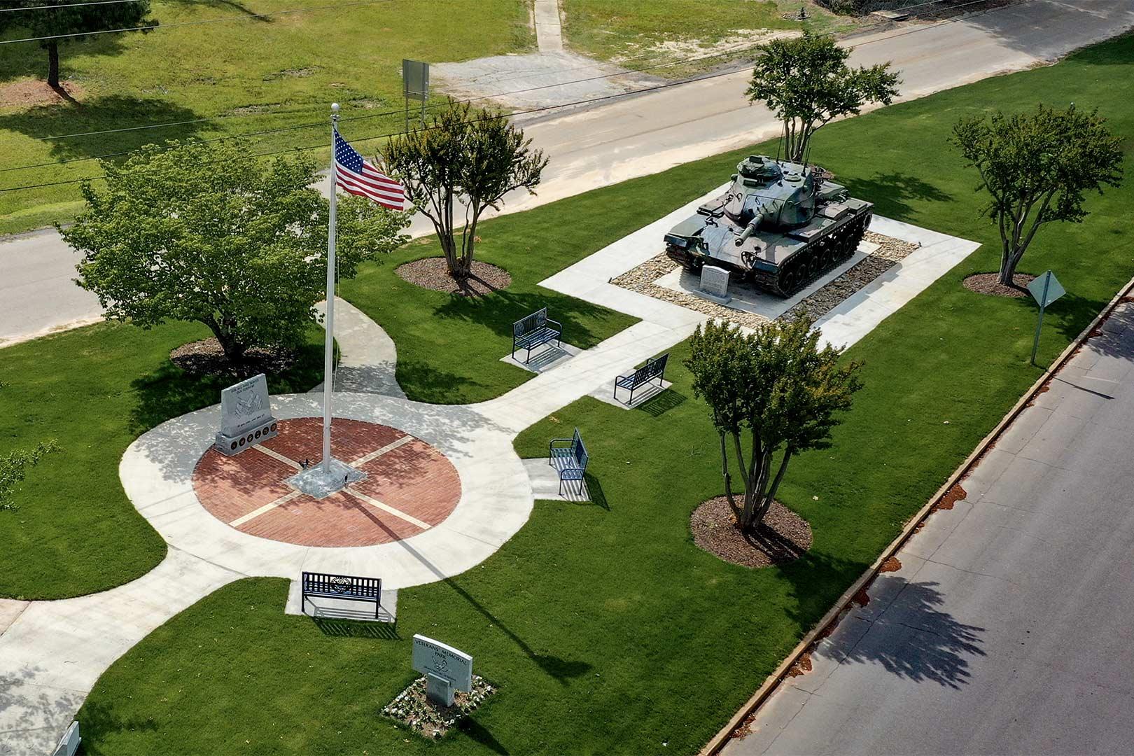 Edgefield Veterans Park, Aerial