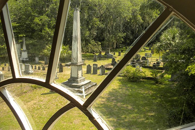 Edisto Island Presbyterian View of Cemetery