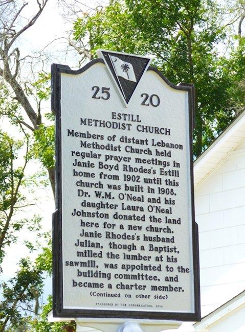 Estill Methodist Church Marker