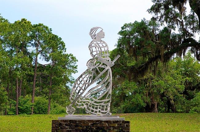 Female Slave Sculpture