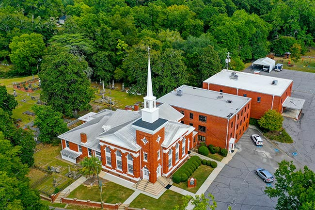 First Baptist Edgefield, Aerial