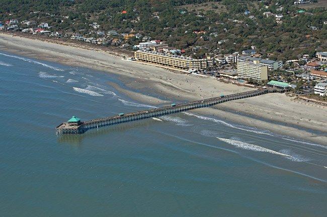 Folly Beach Pier Aerial