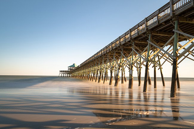 Folly Beach Pier Sunrise with Shadows