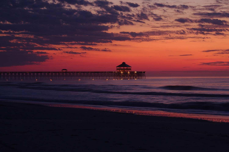 Folly Beach Sunrise Pier