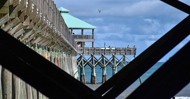 Folly Pier as Seen From Below