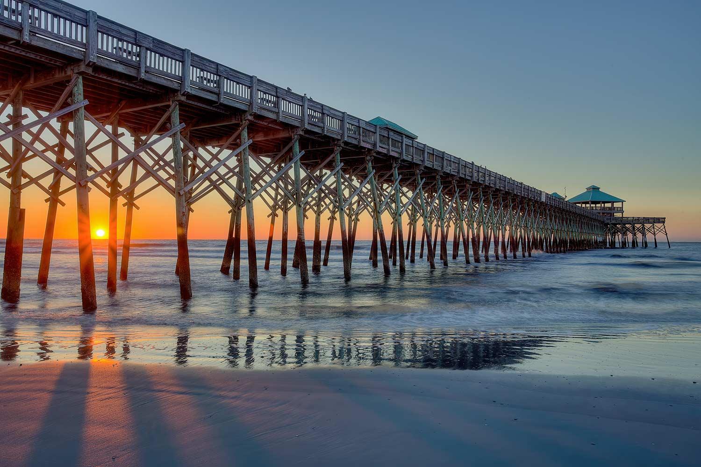 Folly Pier in Charleston, South Carolina