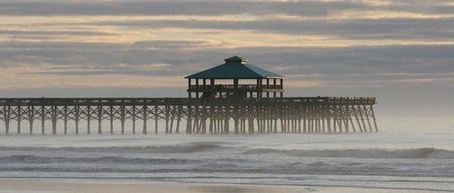 Folly Beach Pier - Charleston South Carolina SC