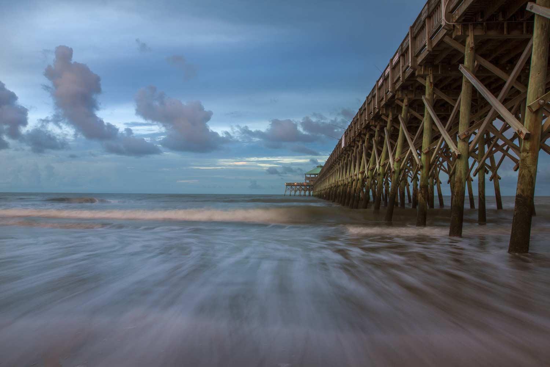 Folly Pier in a Storm