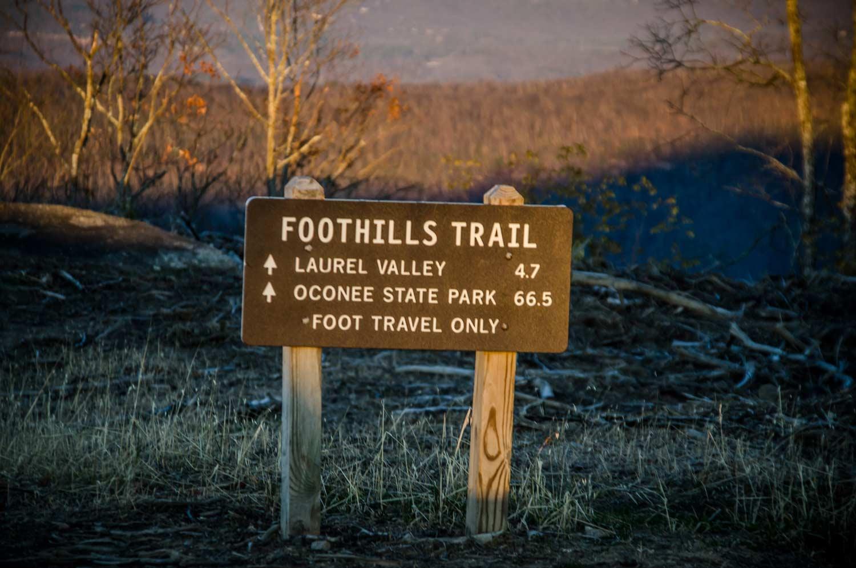 Foothills Trail Marker