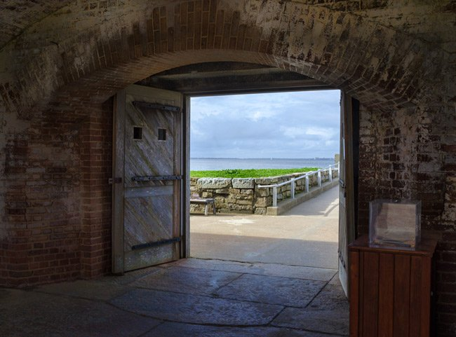 Fort Sumter Interior View