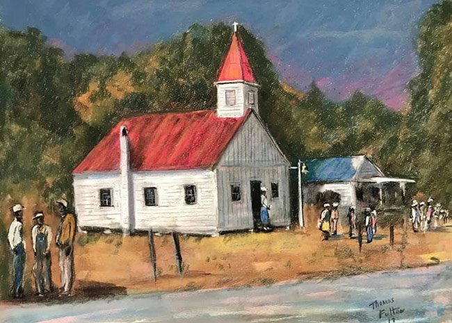 Friendfield Village Church painting