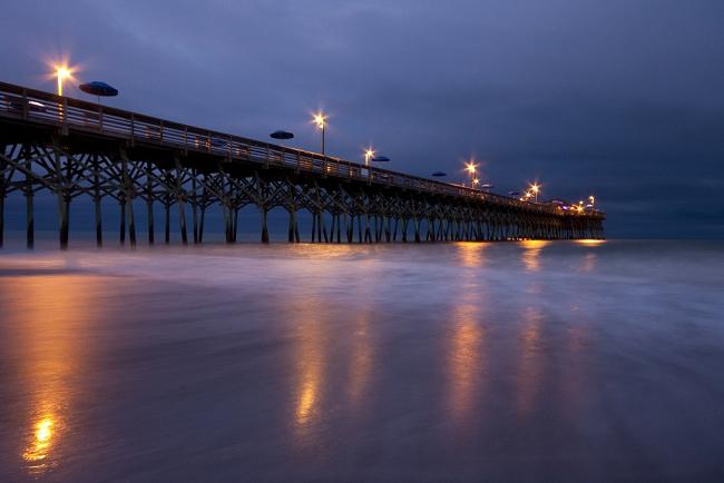 Garden City Pier at Night