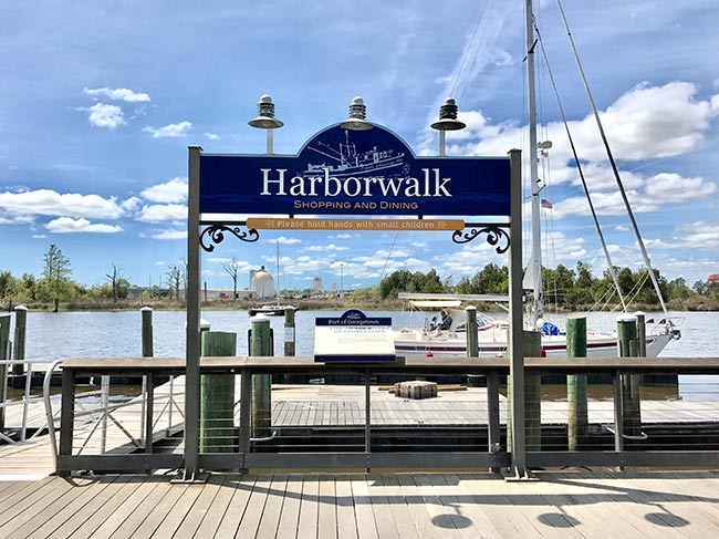 Georgetown Harborwalk Sign