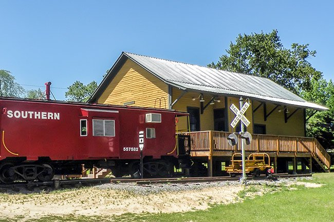 Gilbert Depot and Caboose